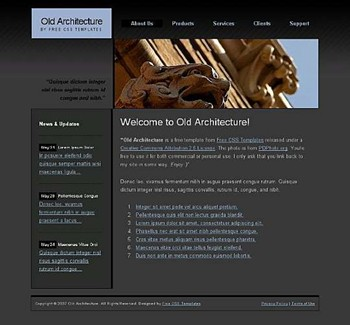 building,statue website template