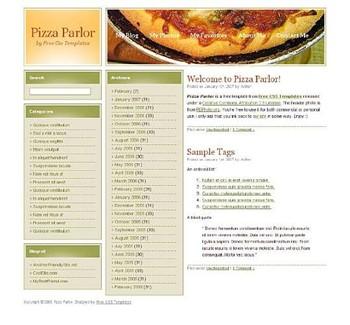 food,pizza website template