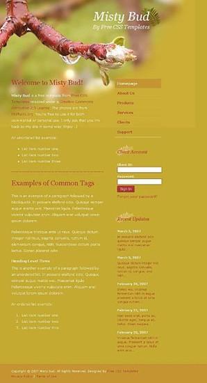 flower,stalks,tree website template