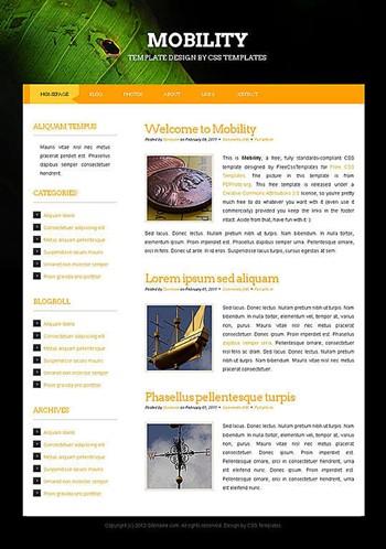blog,business,corporate website template