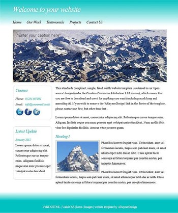 business,personal,portfolio website template