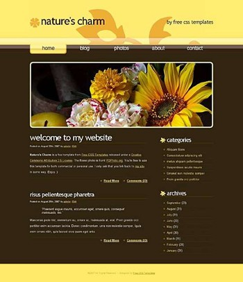flowers,rose,sunflower website template