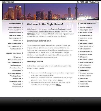 buildings,city website template