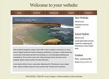 business,nature,portfolio website template