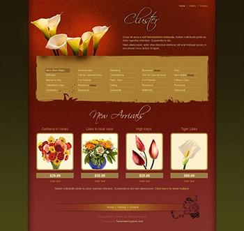 flowers website template
