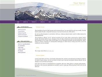 business,corporate,personal website template