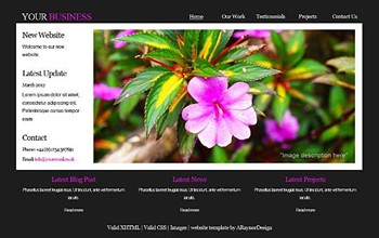 gallery,nature,personal,portfolio website template