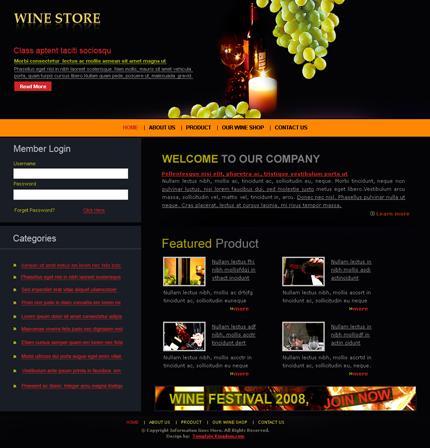 dark colors,food,restaurant website template