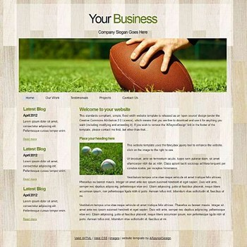 blog,personal,sports website template