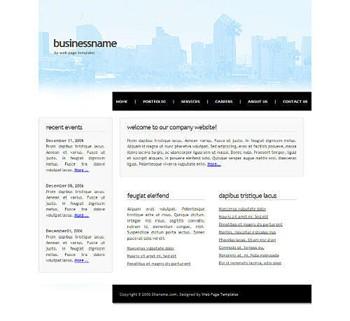 corporate,skyline website template
