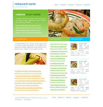 food,restaurant website template