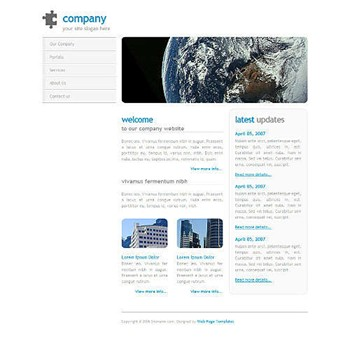 earth,science,space website template