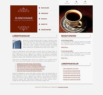 coffee,dining,food website template