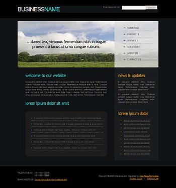 field,nature website template
