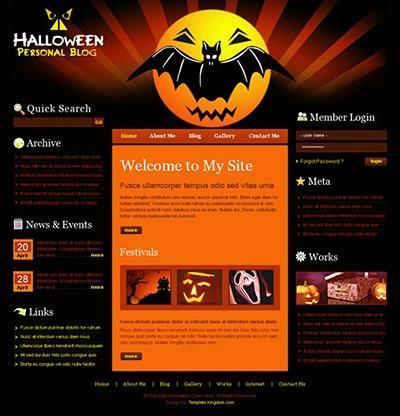halloween website template