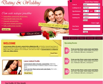 ads ready,dating,featured contents,floral,footer columns,rounded,slideshow,weddings website template