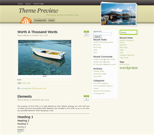 art,photography,twitter wordpress theme