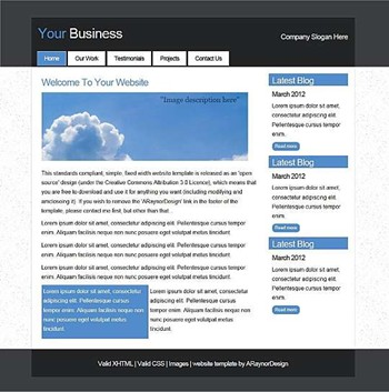 blog,business,personal,portfolio website template