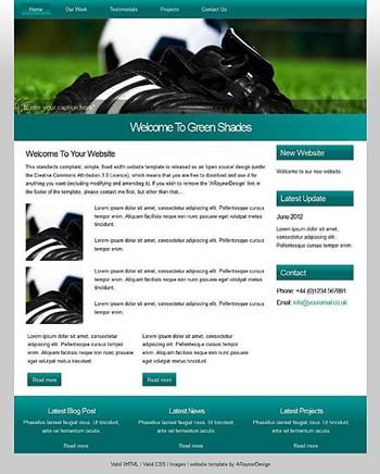 sports website template