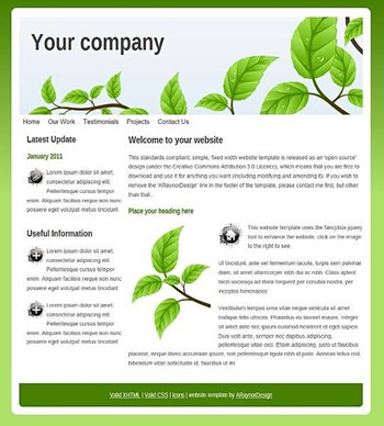 business,nature,personal,portfolio website template