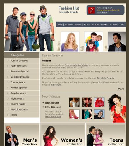 business,fashion,simple website template